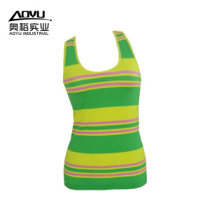 Discount Price for Gym Tank Top Stripe Workout Fitness Women Yoga Sport Tank Tops supply to Indonesia Manufacturer