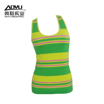 Lowest Price for Tank Top Stripe Workout Fitness Women Yoga Sport Tank Tops supply to Italy Manufacturer