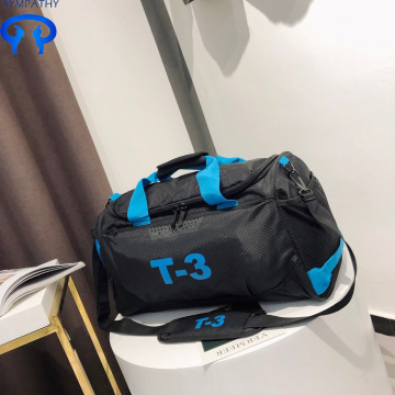 Sports gym bag with slanted shoulder
