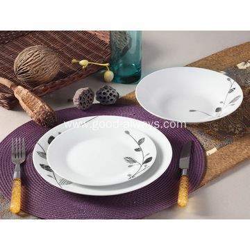 12 Piece Floral Porcelain Dinner Set