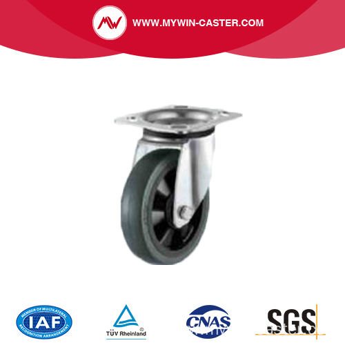 Total Lock Elastic rubber caster