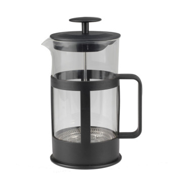 Black Plastic Frame Glass French Press
