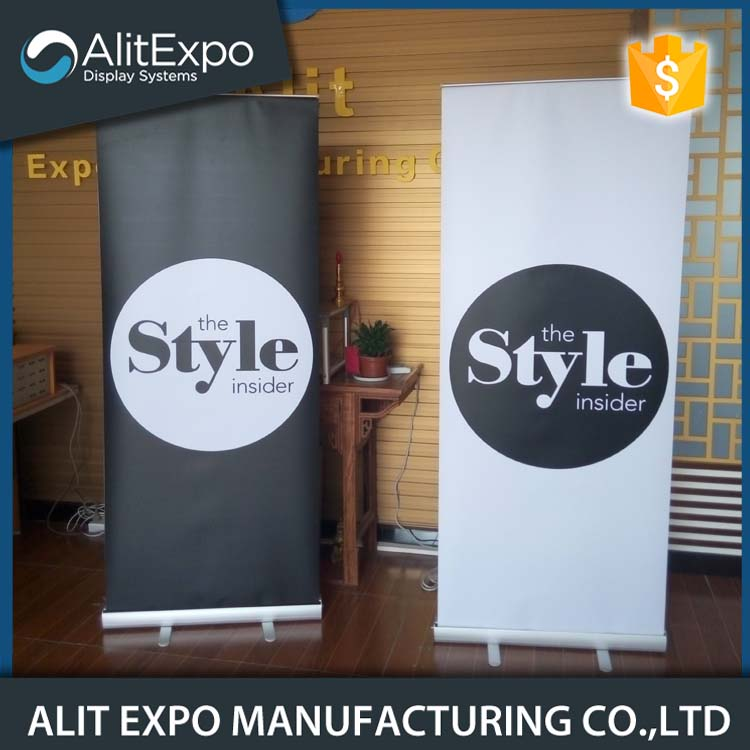 Advertising tabletop promotion roll up stand