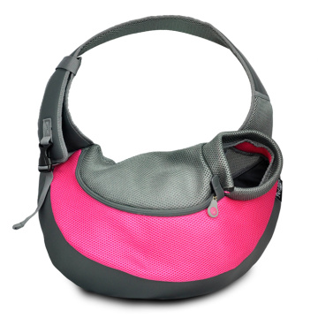 Hot sale good quality for Travelling Pet Backpack Pink PVC and Mesh Pet Sling for Dogs export to France Manufacturer