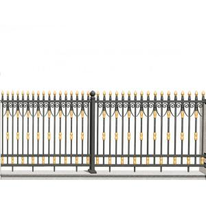 Golden Black Aluminum Fence