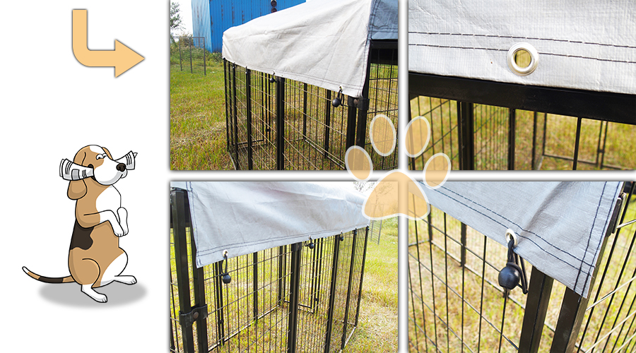 square tube dog kennel