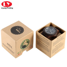 Brown kraft board Men's casual watch box