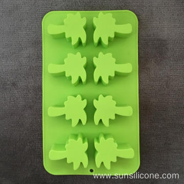 Coconut shaped multi-functional silicone ice box cake mold