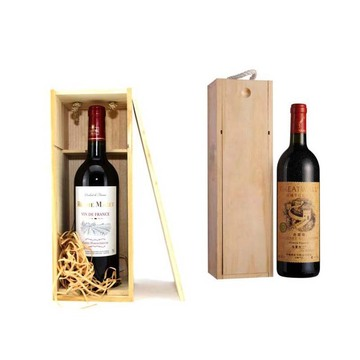 China Factory for for Empty Wooden Wine Gift Box The white wine packaging wooden box supply to Italy Supplier