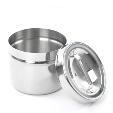 Hospital Medical Stainless Steel Dressing Jar with Knob