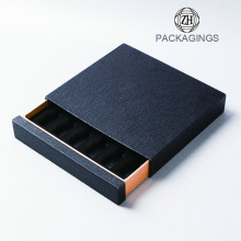 Luxury black sliding drawer box packaging