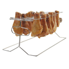 China Professional Supplier for Chicken Roasting Rack BBQ chicken roaster rack with 12 pcs Legs supply to Spain Manufacturer