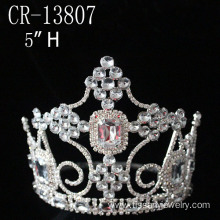 Factory best selling for China Christmas Snowflake Round Crowns, Candy Pageant Crowns, Party Hats. 2015 5 Inch Pageant Crowns export to Nauru Factory