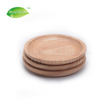Best Quality for Wooden Plate,Wood Plate,Wood Dishes Manufacturers and Suppliers in China Small Round Rubber Wood Serving Plate export to Indonesia Supplier