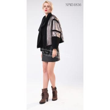 Holiday sales for Women Winter Fur Jacket Short Women Spain Merino Shearling Jacket supply to Netherlands Manufacturer