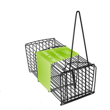 Black spring rat trap cage