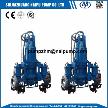 submersible slurry pump with excavator