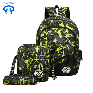 Camouflage three-piece backpack for leisure travel