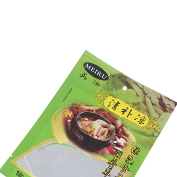 Custom Printed Flat Pouch with Window for Food