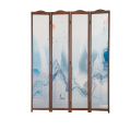 Wooden decorative screen folding room divider