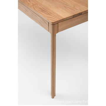 American Oak 2 drawer Wooden Writing Table