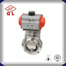 Stainless Steel Pneumatic Sanitary Clamped Butterfly Valve