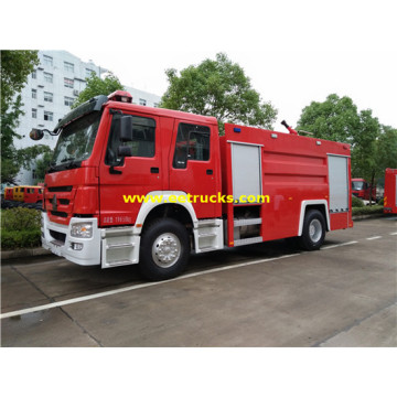 7000L 280hp SINOTRUK Fire Fighting Trucks