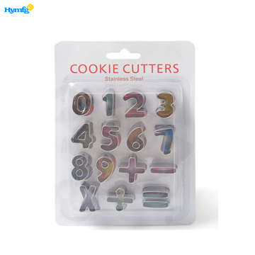 Set of 15pcs Number Cookie Cutters for Kids