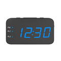 New Portable Mini Digital Alarm clock  Radio USB Rechargeable Red LED Dual Alarm Radio Clock