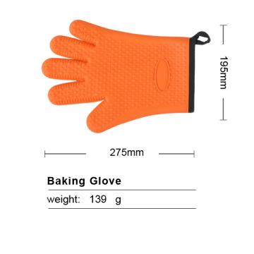 orange silicone oven glove