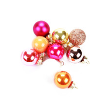 Holiday sales for Mini Ball Ornaments Multicolor Mini Christmas Glass Ball Set Christmas Ornament export to Cayman Islands Factory