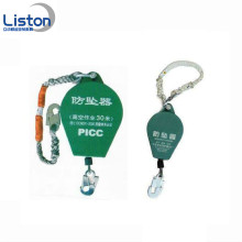 Safety falling protector fall arrester in line construction