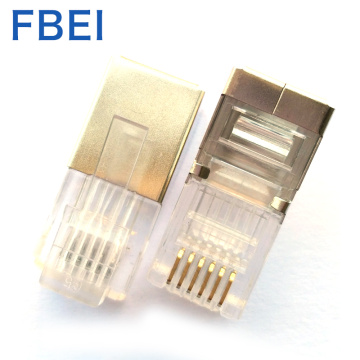 High quality Gold plating 6P6c stp connector