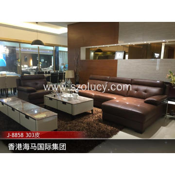 Walnut solid wood sofa