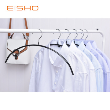 Black PVC Coated Clothes Hanger