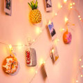 Décoration de chambre à coucher LED Photo Clip String Lights