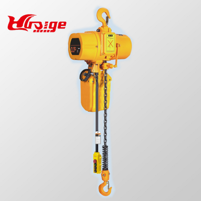1 ton electric chain hoist with motor trolley