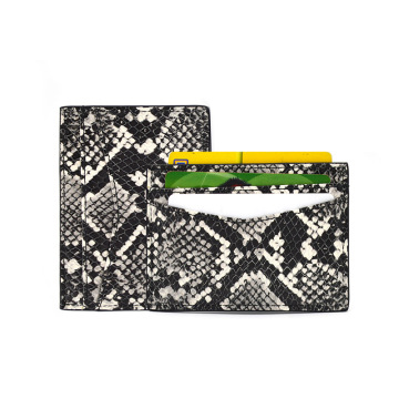 Cheap Price Python Skin Leather Credit Card Holder