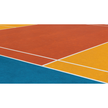 Eco-Friendly Silicon PU Elastic layer QT  Courts Sports Surface Flooring Athletic Running Track