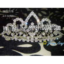Gold Plated Crystal Wedding Tiara Crown