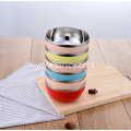 Multicolor Stainless Steel Bowl Set Anti-iron And Anti-fall