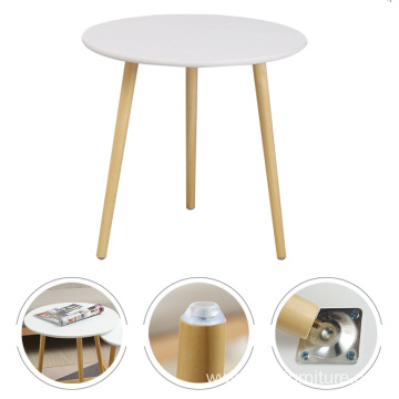 Cheap White MDF Round Coffee Table End Side Table Snack Table