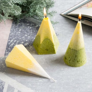 Colorful Scented Pentagonal pyramid candle for gift set