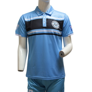 Custom Club Sublimated Cheap Blue Polo Shirts