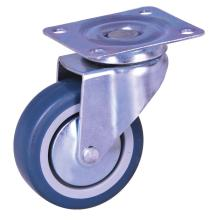 Chinese Professional for 3'' Wheel Plate Caster 3-inch plate mounted swivel caster with TPE wheels export to Qatar Supplier