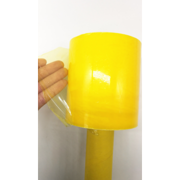 Colorful translucent handle stretch film