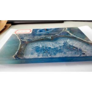 Top Suppliers for Semi Precious Stone Coffee Table Blue agate stone slab supply to India Factories