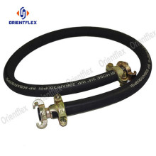 Black oil resistant wrapped air pressure hose