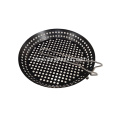 Non-Stick Round Grilling Wok with Folding Handle