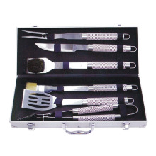 Reliable for Barbecue Set 6pcs stainless steel BBQ set with aluminum box export to United States Manufacturer